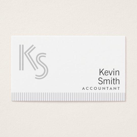 Stylish Plain White Accountant Business Card