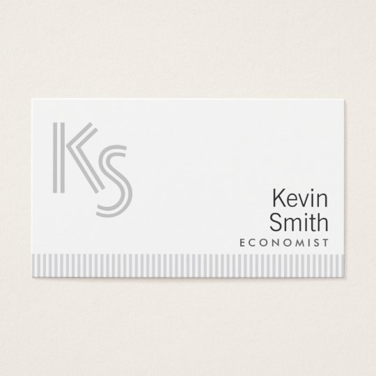 Stylish Plain White Economist Business Card