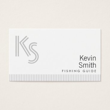 Professional Business Stylish Plain White Fishing Guide Business Card