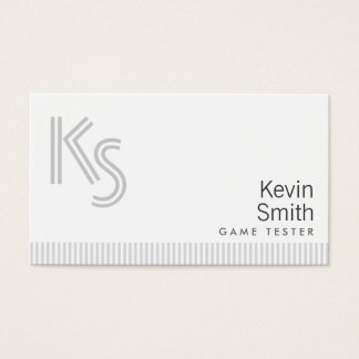 Stylish Plain White Game Testing Business Card