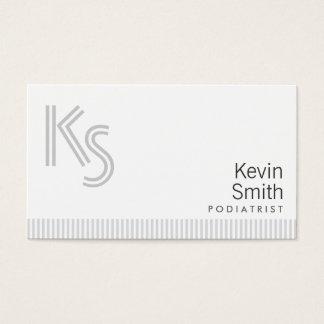 Stylish Plain White Podiatrist Business Card