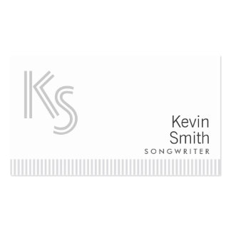 Stylish Plain White Songwriter Business Card