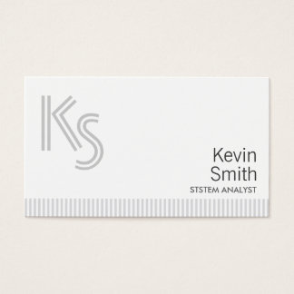 Stylish Plain White System Analyst Business Card