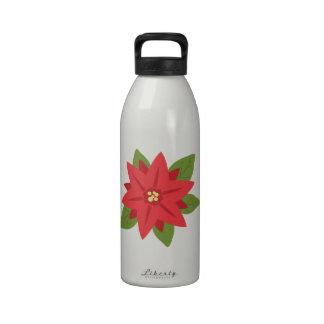 Stylish Poinsettia Reusable Water Bottles