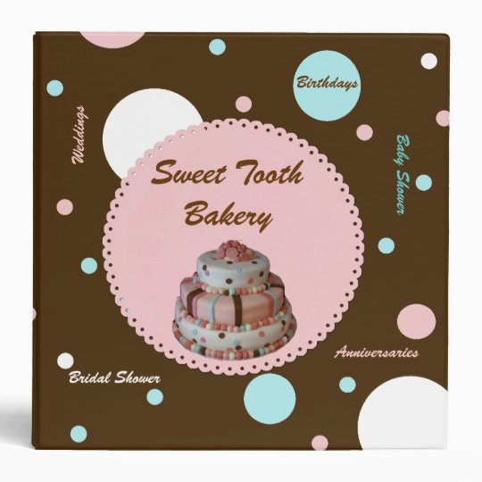 Stylish Polka Dot Bakery Photo Binder