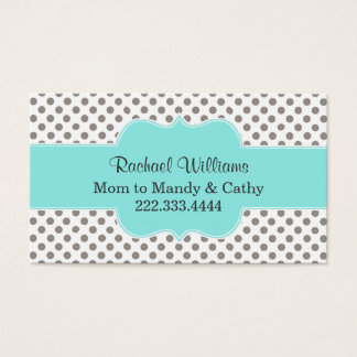 Stylish Polka Dot Custom Mommy Play Date Card