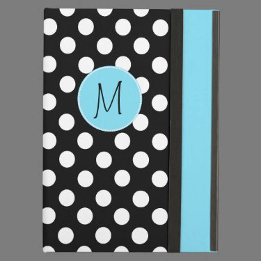 Stylish Polka Dot Monogram iPad Air Case