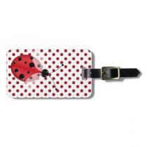 Stylish Polka Dots & Ladybug Luggage Tag