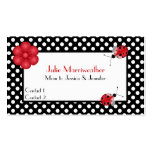Stylish Polka Dots & Ladybugs Mommy Calling Card Business Card Templates