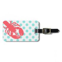 Stylish Polka Dots & Lobster Luggage Tag