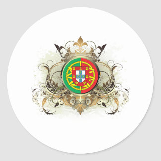 Stylish Portugal Classic Round Sticker
