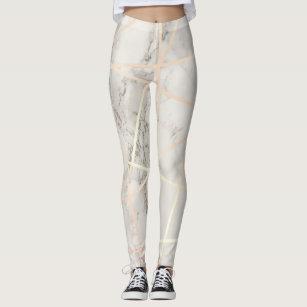 0d0d325297edb0 Stylish pretty chick rose gold & white marble leggings