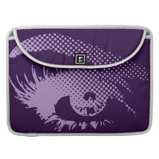 Stylish Pretty Eye of Woman Halftone-Violet Purple MacBook Pro Sleeves