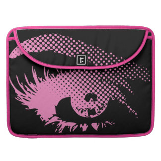 Stylish Pretty Eye of Woman in Halftone - Pink Sleeve For MacBooks