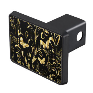 Stylish Printed Faux Gold Butterflies Hitch Cover