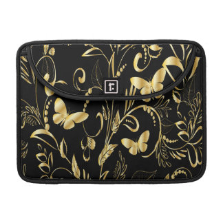 Stylish Printed Faux Gold Butterflies Sleeves For MacBook Pro