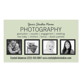 Stylish Professional Design with Four Photos Business Card