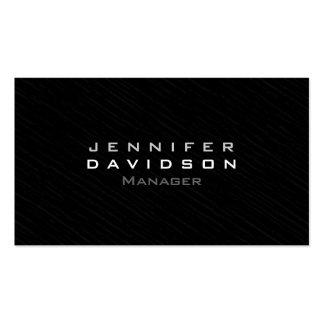 Stylish Professional Modern Dark Gray Business Card