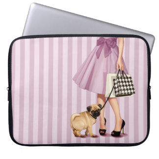 Stylish promenade laptop sleeve