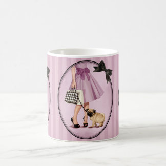 Stylish promenade classic white coffee mug