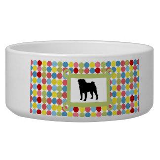 Stylish Pug Dog Food Bowl