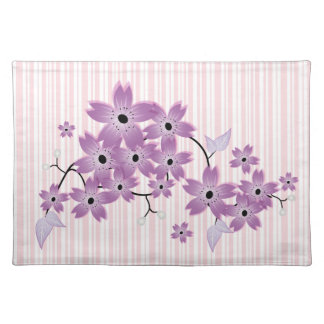 Stylish Purle Cherry Blossom Placemats