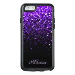 Stylish Purple Black Glitter Otterbox 6 Case at Zazzle