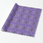 Stylish purple black pattern gift wrapping paper