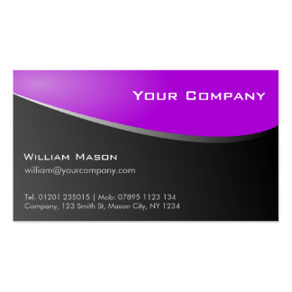Stylish Purple, Company Business Card Business Card Template