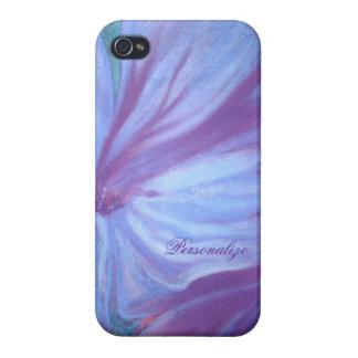 Stylish Purple Flower iPhone 4 Case