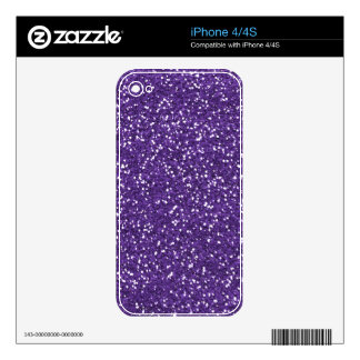 Stylish Purple Glitter Decal For iPhone 4