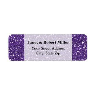 Stylish Purple Glitter Label