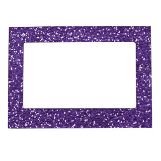 stylish purple glitter magnetic frame