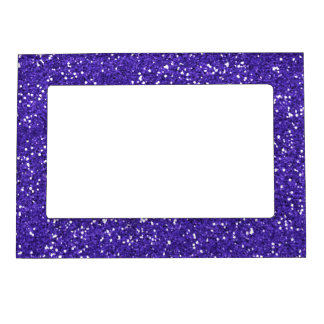 Stylish Purple Glitter Magnetic Photo Frame