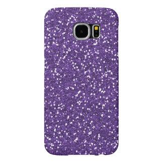 Stylish Purple Glitter Samsung Galaxy S6 Cases