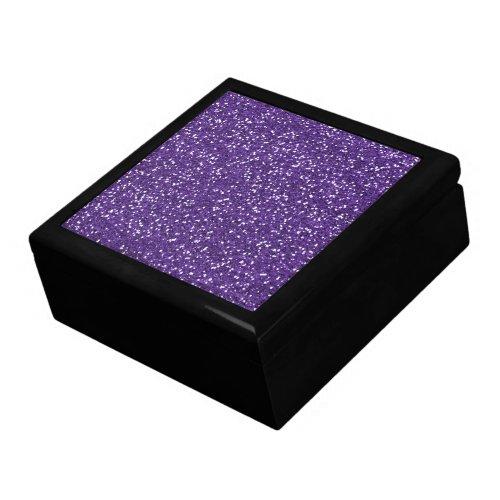 Stylish Purple Glitter Trinket Boxes