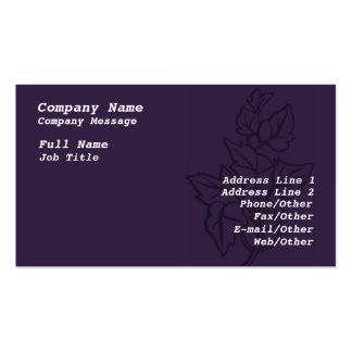 Stylish Purple Ivy Business Card Template