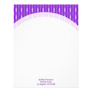 Stylish Purple Pattern Letterhead