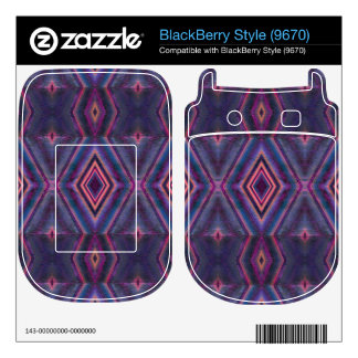 Stylish purple pink pattern BlackBerry skin