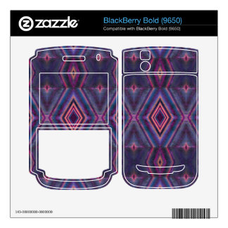 Stylish purple pink pattern decal for BlackBerry