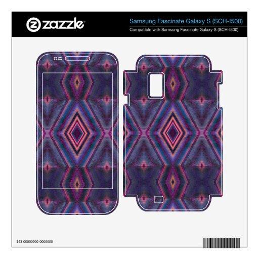 Stylish purple pink pattern samsung fascinate decal