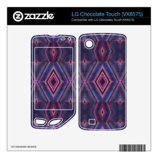 Stylish purple pink pattern LG chocolate touch decal
