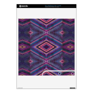 Stylish purple pink pattern PS3 slim console skins