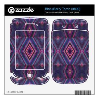 Stylish purple pink pattern skin for BlackBerry torch
