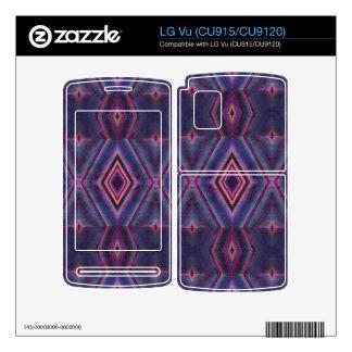 Stylish purple pink pattern LG vu decal