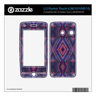 Stylish purple pink pattern decals for LG rumor touch