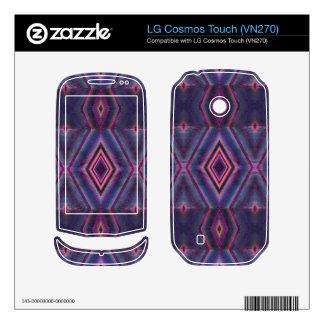 Stylish purple pink pattern LG cosmos touch skins