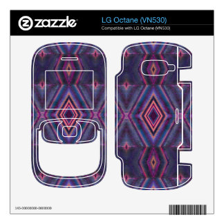 Stylish purple pink pattern decal for the LG octane