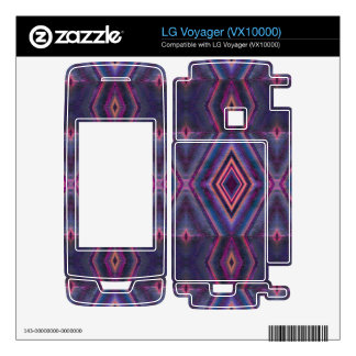 Stylish purple pink pattern decals for LG voyager