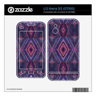 Stylish purple pink pattern LG arena 3G decal